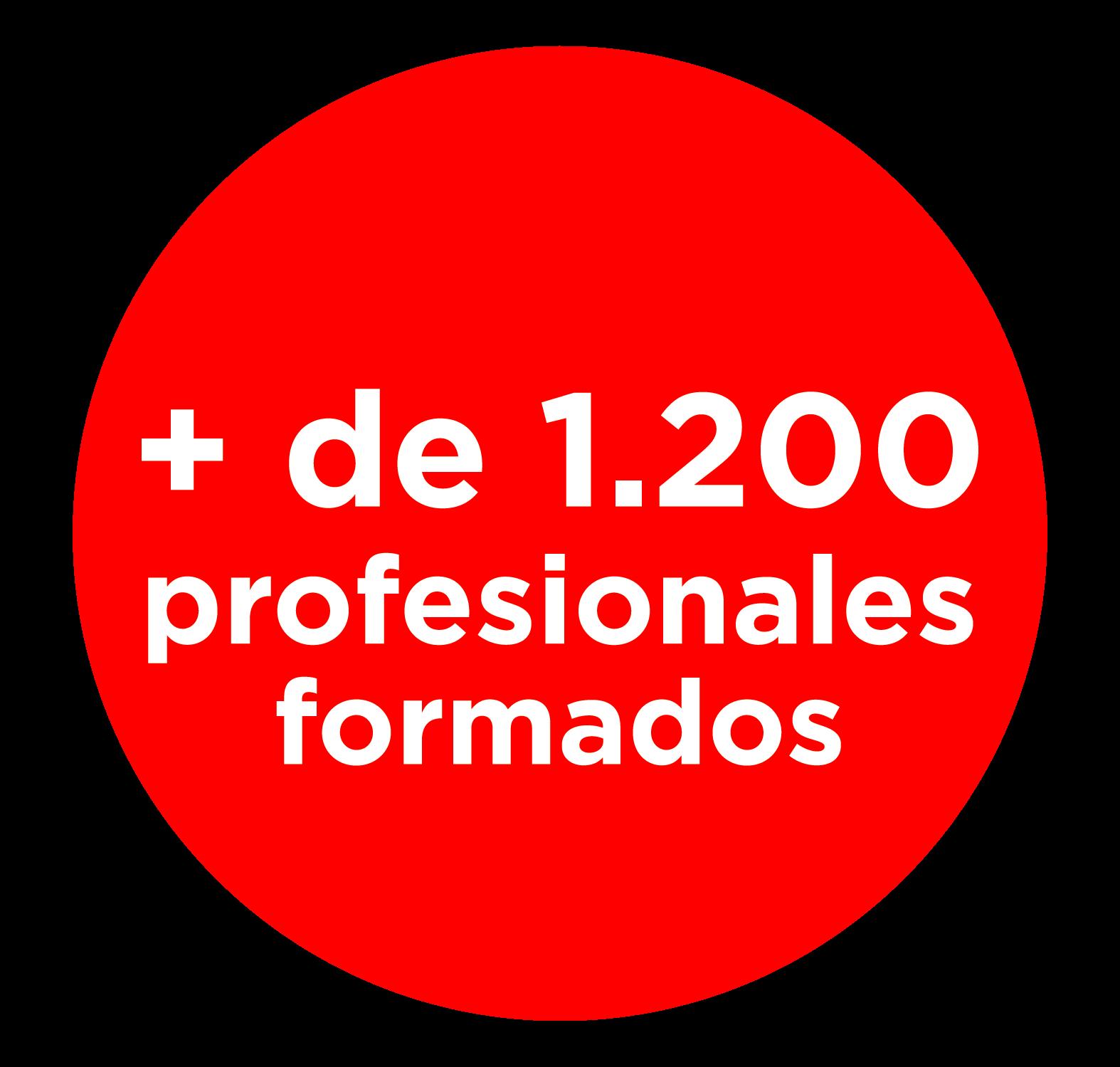 Más de 1200 profesionales formados